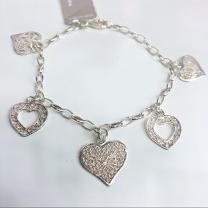 Giani Bernini NWT Sterling Silver Heart Bracelet